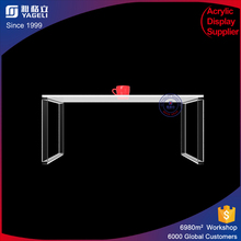 Simple Clear acrylic writing table/office desk in study/home/hotel/school