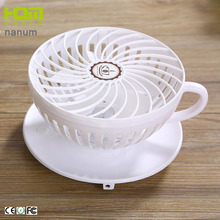 Pink Coffee Cup Shaped Commercial Oscillating Fan For Office