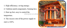 Medium Frequency Coreless Steel Melting Induction Furnace, PLC control