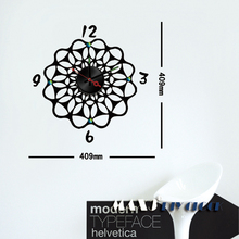 cartoon diamond round wall stickers clock for little princess child