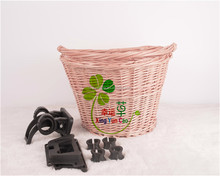 wholesale wicker bicycle basket with quick release