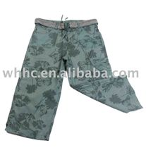 girl's camo short pants fashion leisure casual trousers with belt