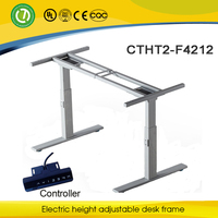 deluxe height adjustable computer table frame Electric Lift Sit or Standing Desk frame