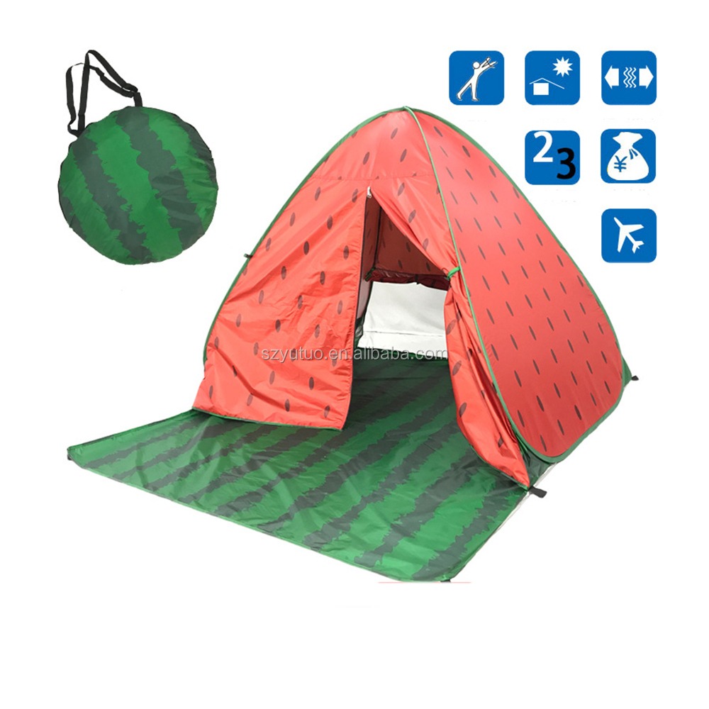 Portable 2-3 Person Auto Pop Up Outdoor Comping Beach Sun Shelter Shade Tent For Outdoor Backpacking Tent