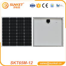 hot 12v 65w mini solar panel for solar electric system in india