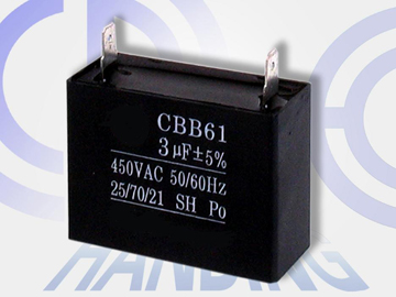 3uf 450V professional AC fan capacitor cbb61 metallized polypropylene film