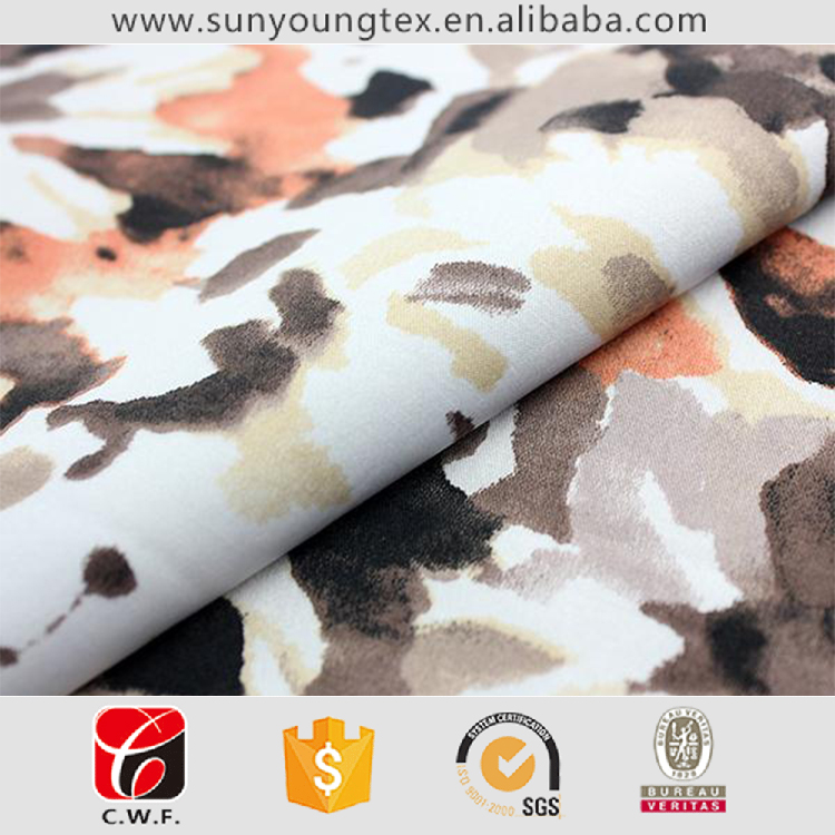 high-end custom polyester rib cuff fabric fabric for shirts