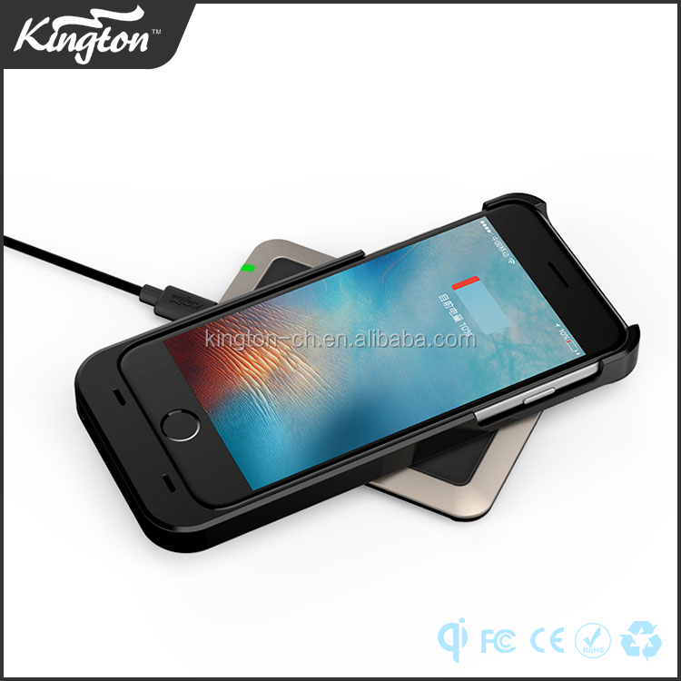 2017 best selling magnetic induction charging qi wireless charger case receiver