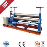 Electric 3 Rolls Small Sheet Roller Bending Machine, manual sheet metal rolling machine