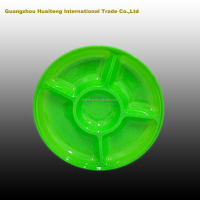 5 compartments plastic plates supplier