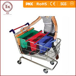 Reusable Shopping Trolley Bag Fit Inside Supermarket Trolleys Organise Goods At The Checkout 4pcs