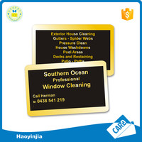Frosted plastic pvc business card printing with magnetic strip