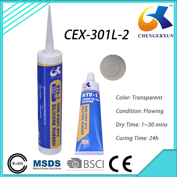 Silicone Glue Adhesive Liquid Transparent for Glass