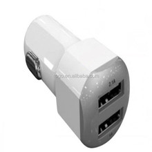 2.1A +1A micro usb car charger cell phone accessory