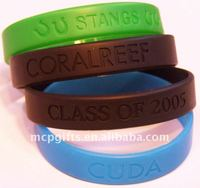 Promotion debossed silicone health wristband