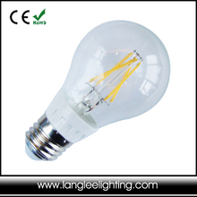 Classic filament styled A19 LED light bulb 4Watts of LED comparable to a 35-40 incandescent light bulb Bulb