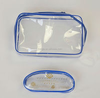 BSCI audit factory plastic clear pvc zipper tote bags/clear pvc bag/pvc bag