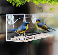 Acrylic Large Window Bird Feeder with Strong Suction Mount(B-0288)