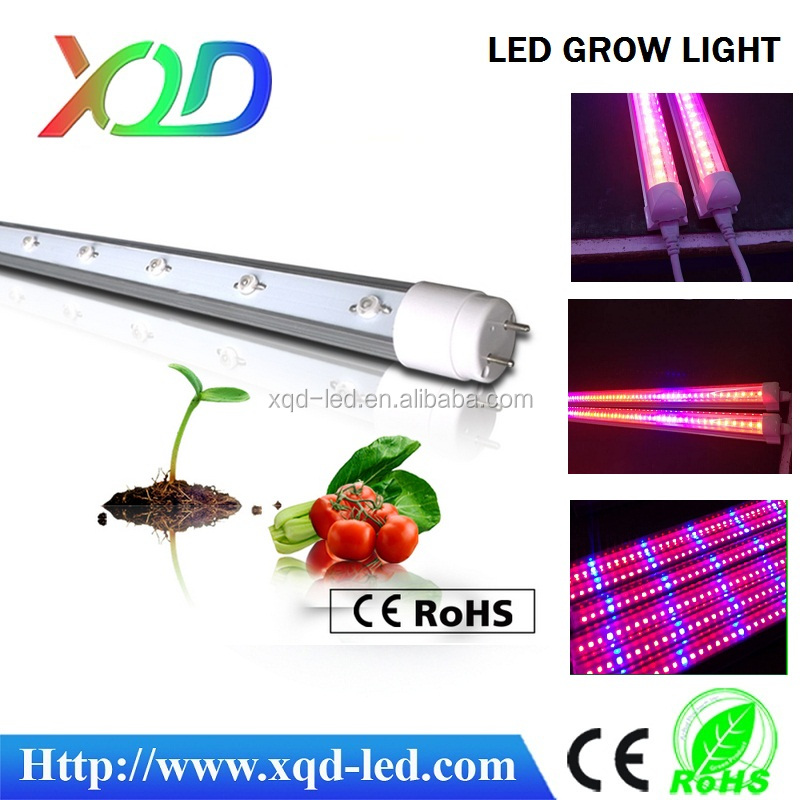 XQD led grow lights tube t8 led tube light smd 5050 led grow light for garden plants hydroponic growth