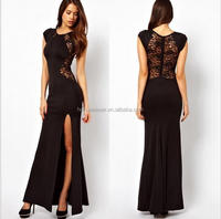 Black Elegant Womens Slim Long Maxi lace Gown Cocktail Party Dresses
