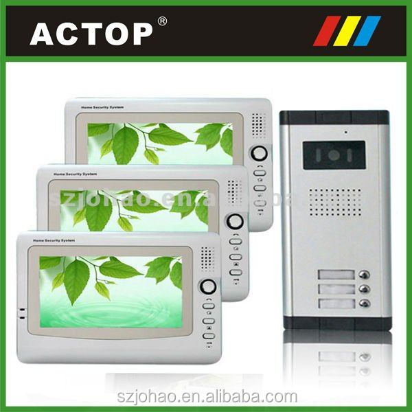 More convenient function ACTOP in Shenzhen Video intercom system for multi apartment