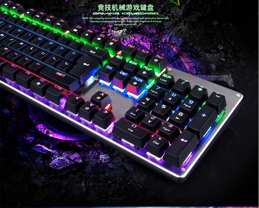 2017 best selling RGB backlight mechanical gaming keyboard
