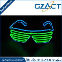 Chic Glow In The Dark flashing el wire led crazy big party glasses