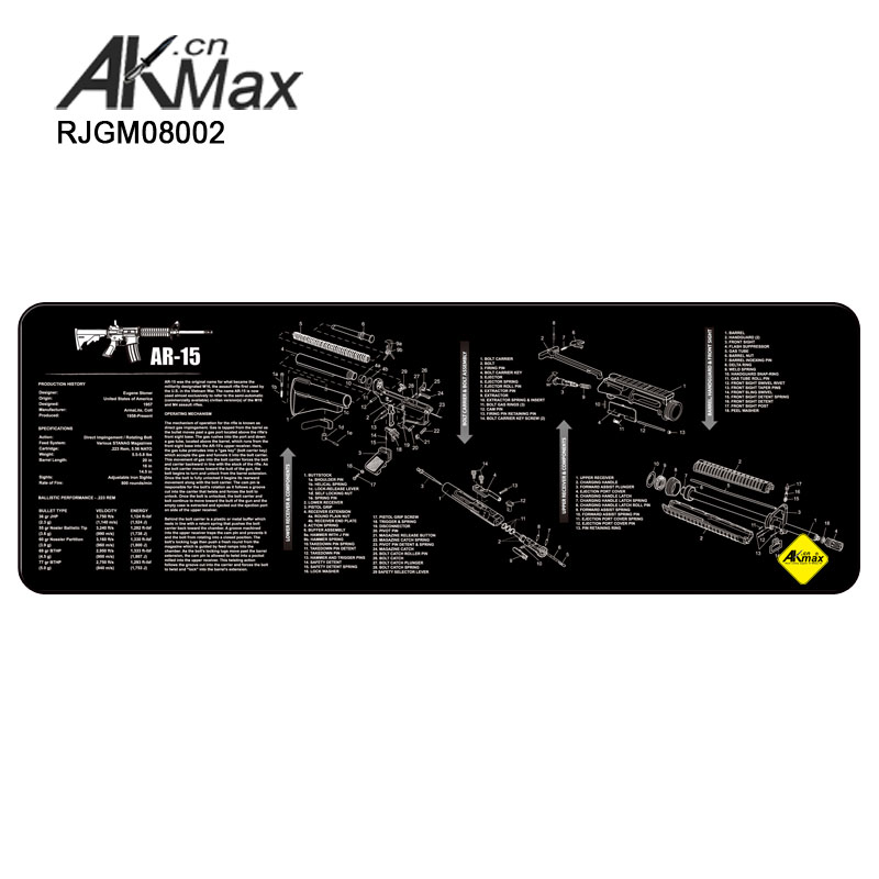 Black High Quality Gun Cleaning Mat Of AR15 AK47 For Sale In Low Price