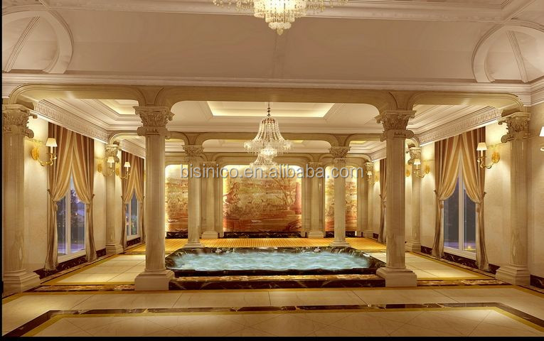 Antique Castle Style Interior 3D Rendering Design with All Material and Furnishing