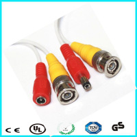 3m durable coaxial rg59 plug dc cable and cctv cable