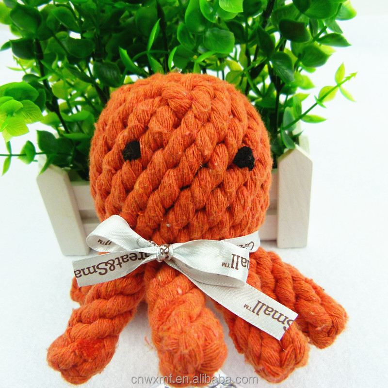 similar sea animal shape cute pet rope toys for dog chewing and studying