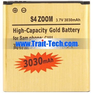 3030mAh High Capacity Golden Replacement Battery for Samsung Galaxy S4 Zoom SM-C1010