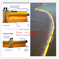 Solid float PVC oil boom for oil boom
