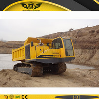 Track dump vehicles for rough terrain road