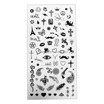 Foil, Glitter, Water transfer temporary tattoo sticker; Cosmetic grade, Disney audited factory