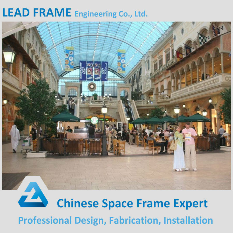 Prefabricated Skylight FRP Roof Panel Steel Structure Shopping Mall