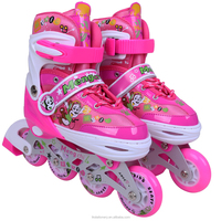 76mm PU wheels kids roller skate shoes for school