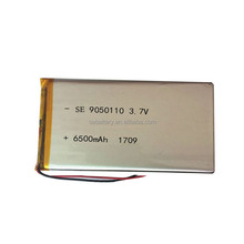 High power Rechargeable Li-polymer Battery LP 9050110 6500mAh 6.5Ah 3.7V Lipo Battery with PCM