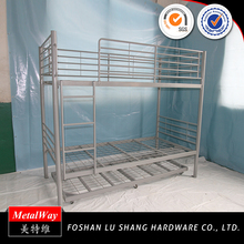 China manufacturer cheap adult metal detachable bunk bed for home