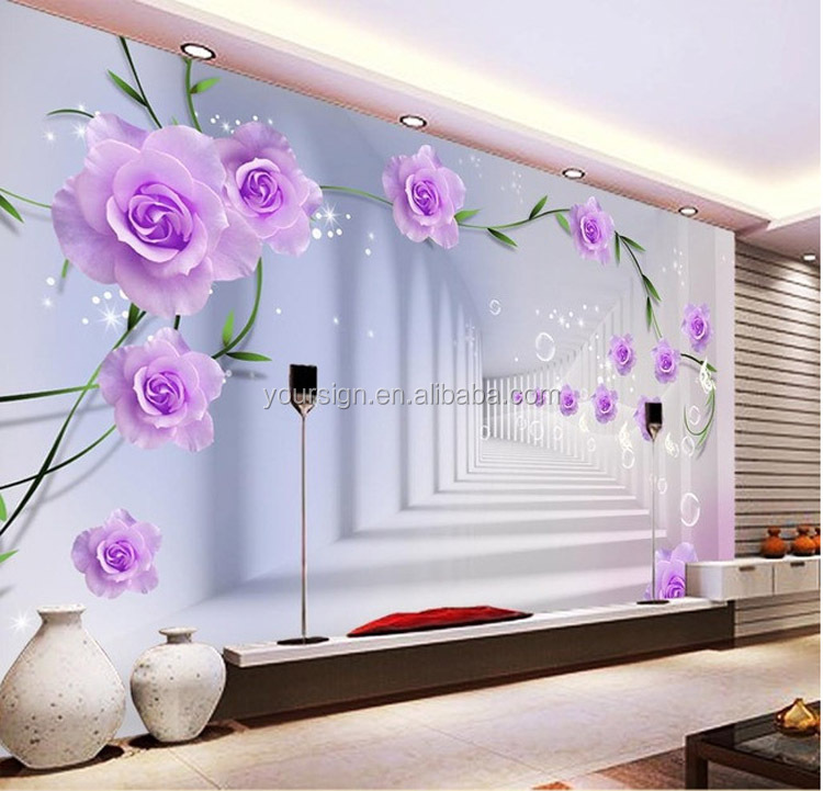 promotional item high quality 3d printing mural wallpaper