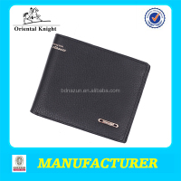 trendy branded men real leather purse china OEM service