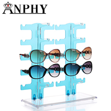 A108 ANPHY Plastic Clear Colorful Sunglasses Display Rack 10 Pairs Stock