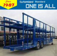 China supplier hauler trailer enclosed car hauler trailer