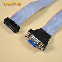 2x5 pin idc ribbon cable /10 pin idc to vga 15 pin cable female