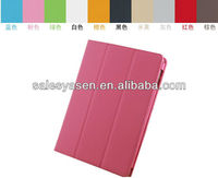 2013 new arrival book style leather case for ipad