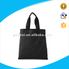 plain design black cotton/non woven bag for packing,cotton canvas tote bag