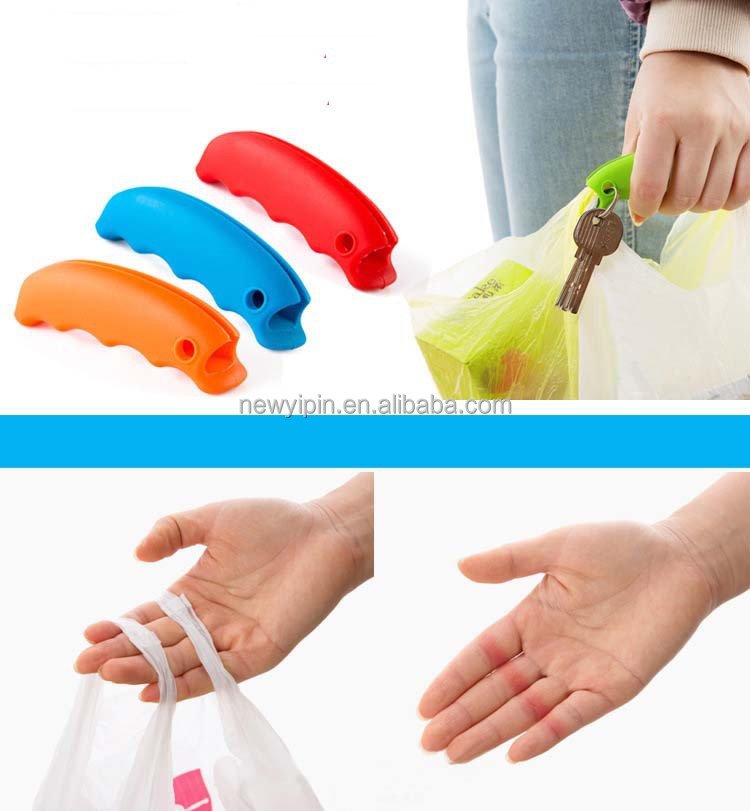 Promotion Gift Convenient Useful Cheap Shipping Bag Silicone Handle Cover,silicone shopping bag carrying handle