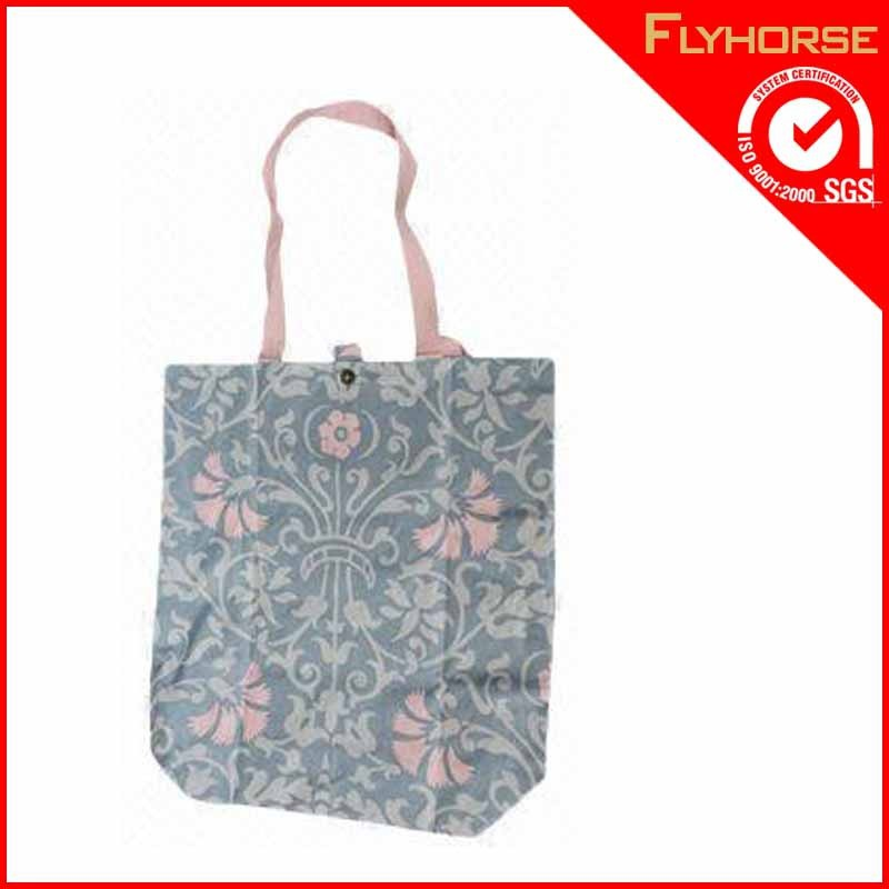 Eco recyclable shopping tote cotton beach bag