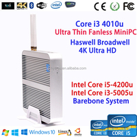 Industrial Server fanless all in one mini pc barebone Win7 Linux embedded desktop computer Intel Core i3 4010u HTPC Box VGA WiFi