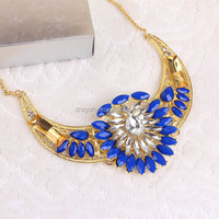 hot selling wholesale female acrylic alloy chain vintage necklace